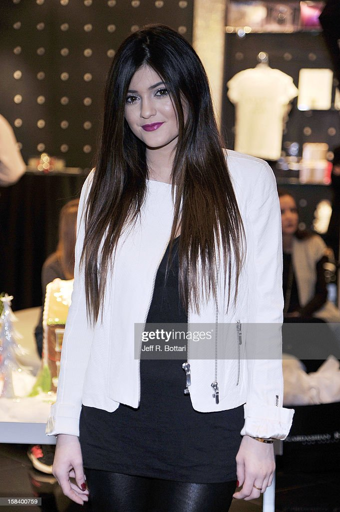 Television personality <a gi-track='captionPersonalityLinkClicked' href=/galleries/search?phrase=Kylie+Jenner&family=editorial&specificpeople=870409 ng-click='$event.stopPropagation()'>Kylie Jenner</a> appears at the Kardashian Khaos store at The Mirage Hotel & Casino for a fan meet-n-greet on December 15, 2012 in Las Vegas, Nevada.