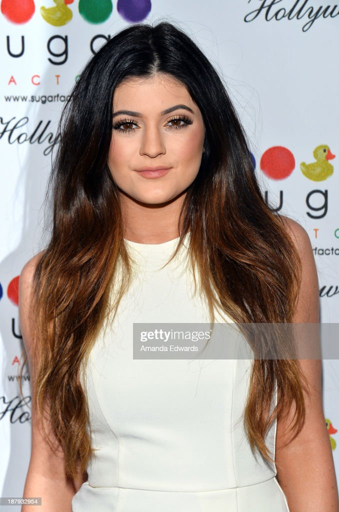 Television personality <a gi-track='captionPersonalityLinkClicked' href=/galleries/search?phrase=Kylie+Jenner&family=editorial&specificpeople=870409 ng-click='$event.stopPropagation()'>Kylie Jenner</a> arrives at the grand opening of Sugar Factory Hollywood at Sugar Factory on November 13, 2013 in Hollywood, California.