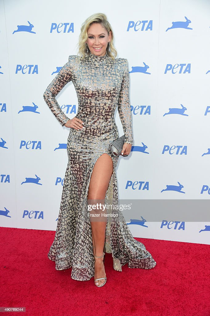 Television personality Kym Johnson arrives at PETA's 35th Anniversary Party at Hollywood Palladium on September 30, 2015 in Los Angeles, California.