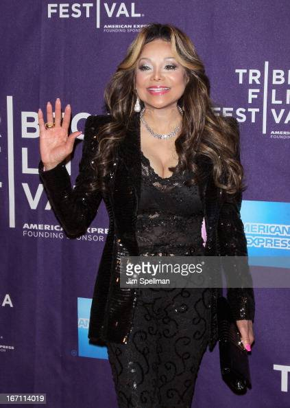 Television Personality La Toya Jackson attends the screening of 'Dancing in Jaffa' during the 2013 Tribeca Film Festival at AMC Loews Village 7 on...