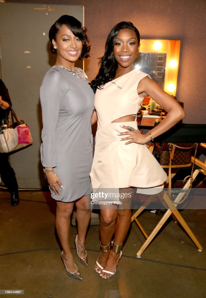 Television personality LaLa Anthony and singer Brandy attend 'VH1 Divas' 2012 at The Shrine Auditorium on December 16, 2012 in Los Angeles, California.