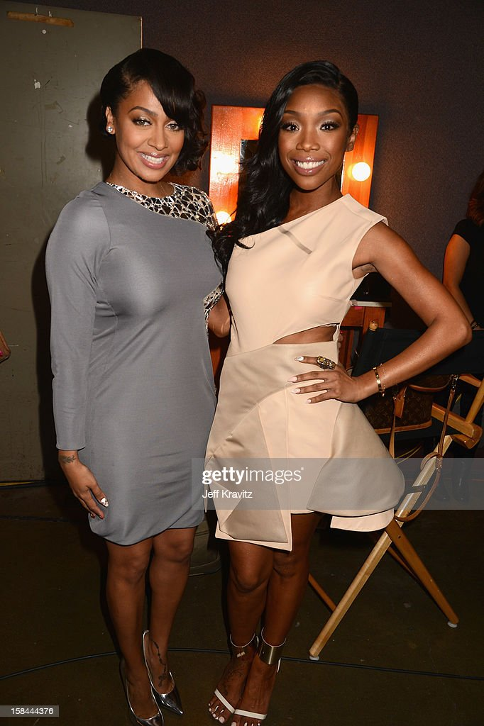 Television Personality LaLa Anthony and Singer Brandy Norwood (R) attend 'VH1 Divas' 2012 at The Shrine Auditorium on December 16, 2012 in Los Angeles, California.