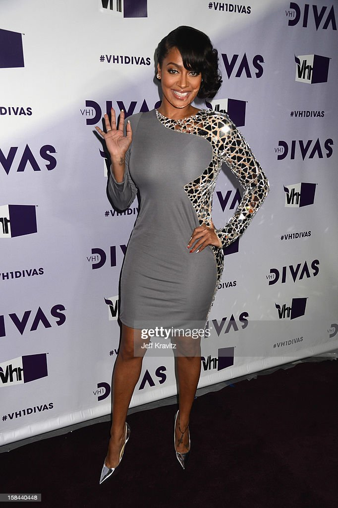 Television personality LaLa Anthony arrives at 'VH1 Divas' 2012 at The Shrine Auditorium on December 16, 2012 in Los Angeles, California.