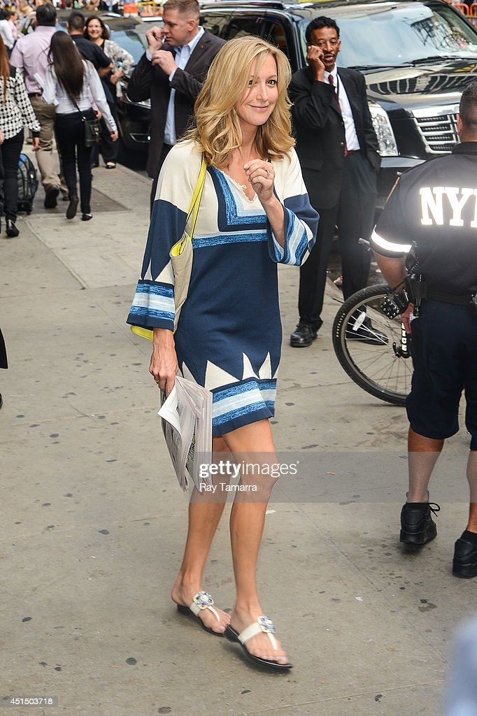 Television personality Lara Spencer leaves the 'Good Morning America' taping at the ABC Times Square Studios on June 30, 2014 in New York City.