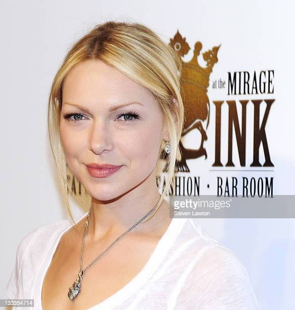 Television personality Laura Prepon arrives for the grand opening of King Ink Tattoo at The Mirage Hotel Casino on April 10 2010 in Las Vegas Nevada