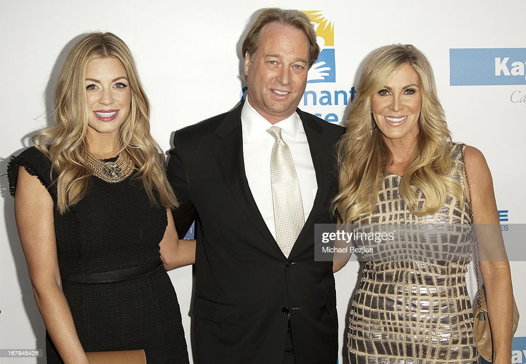 Television personality Lauri Peterson (R) and daughter Ashley Zarlin (L) and husband George Peterson arrive at the Covenant House California 2013 Gala And Awards Dinner at Skirball Cultural Center on May 2, 2013 in Los Angeles, California.