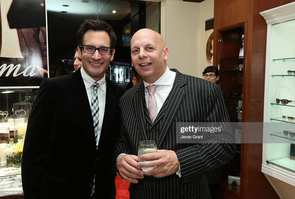 Television personality Lawrence Zarian and owner ofThe Eye Gallery LA Pierre Keyser attend the Grand Opening of The Eye Gallery In Los Angeles on December 6, 2012 in Los Angeles, California.