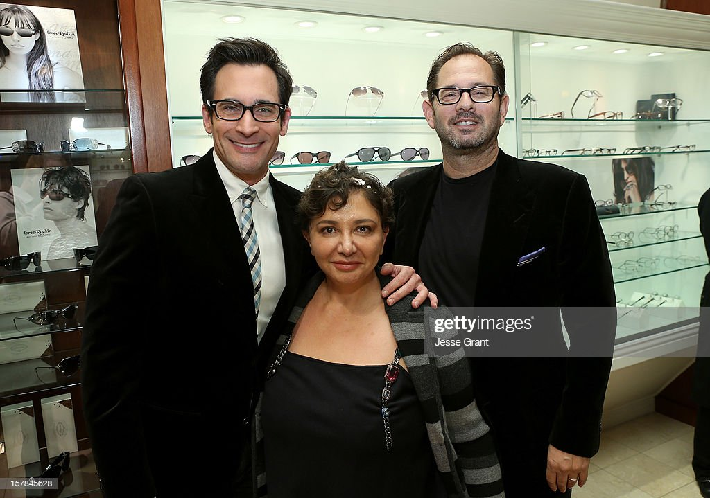 Television personality Lawrence Zarian, eyewear designer for Sama Sheila Vance and Head of production for Sama Ross Vance attend the Grand Opening of The Eye Gallery In Los Angeles on December 6, 2012 in Los Angeles, California.