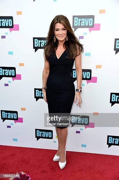 Television Personality Lisa Vanderpump and Giggy arrives at Bravo Media's 2013 'For Your Consideration' Emmy Event at Leonard H Goldenson Theatre on...