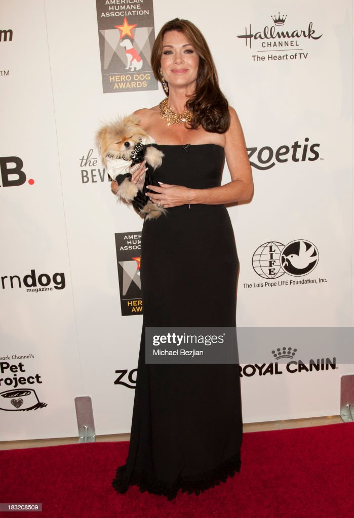 Television personality <a gi-track='captionPersonalityLinkClicked' href=/galleries/search?phrase=Lisa+Vanderpump&family=editorial&specificpeople=6834933 ng-click='$event.stopPropagation()'>Lisa Vanderpump</a> arrives at the 3rd Annual American Humane Association Hero Dog Awards at The Beverly Hilton Hotel on October 5, 2013 in Beverly Hills, California.