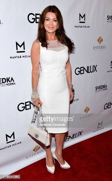 Television personality Lisa Vanderpump arrives at the Genlux Magazine release party with Erika Christensen at Sofitel Hotel on August 29 2013 in Los...