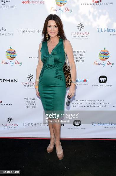 Television personality Lisa Vanderpump arrives at the TJ Martell Foundation 4th Annual Family Day LA at CBS Studios Radford on October 28 2012 in...