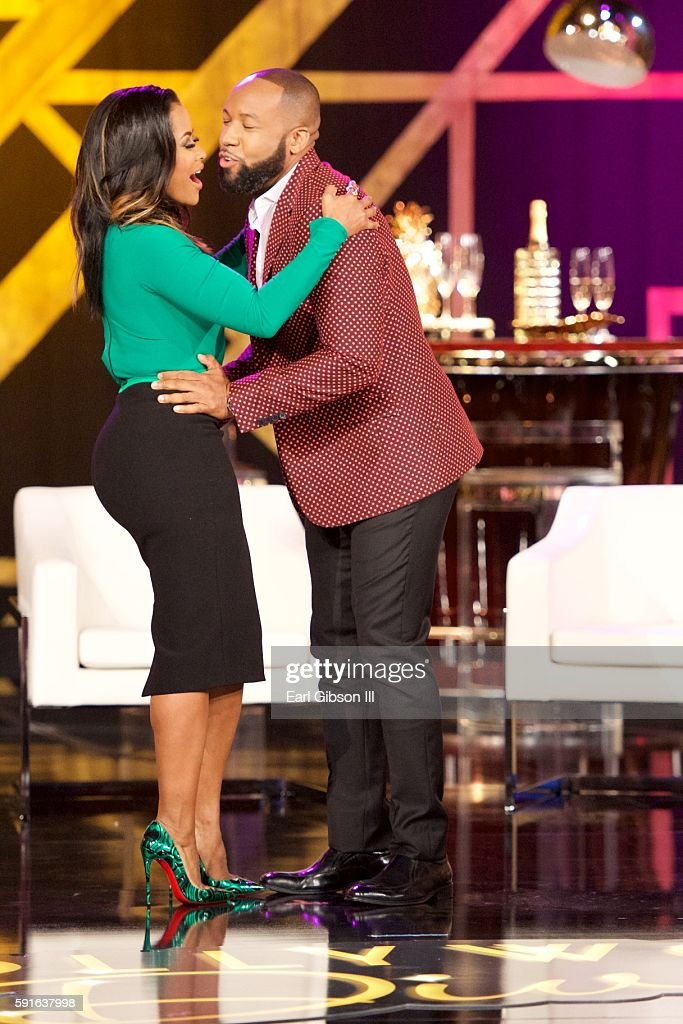 Television Personality Lisa Wu and Executive Producer Carlos King attend TV One's 'Hollywood Diva's' Reunion Special Filming on July 13 2016 in...