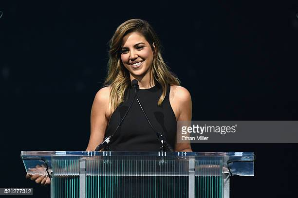 Television personality Liz Hernandez hosts the CinemaCon Big Screen Achievement Awards brought to you by the CocaCola Company at The Colosseum at...