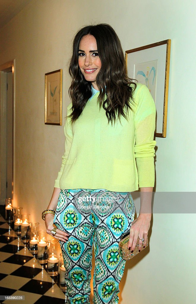 Television personality Louise Roe attends Joe Fresh private dinner hosted by Joe Mimran and Kate Mara at The Chateau Marmont on March 8, 2013 in Los Angeles, California.