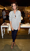 Television Personality Louise Roe attends the Anine Bing Celebrates Los Angeles Flagship Opening at Anine Bing Boutique on October 14 2015 in Los...
