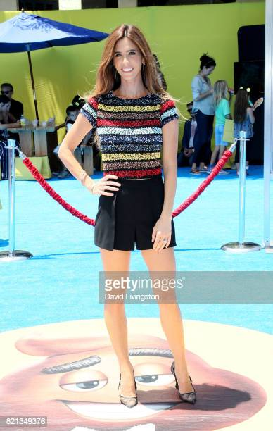 Television personality Lydia McLaughlin attends the premiere of Columbia Pictures and Sony Pictures Animation's 'The Emoji Movie' at Regency Village...