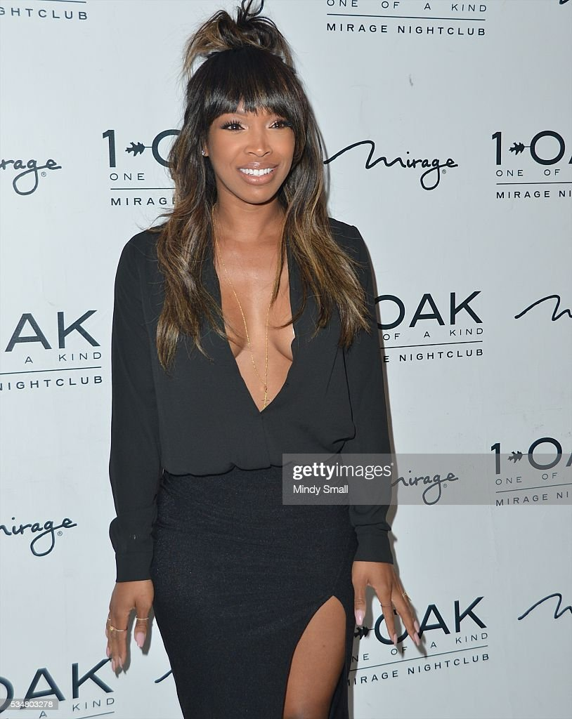 Television personality Malika Haqq arrives at 1 OAK Nightclub at The Mirage Hotel & Casino on May 28, 2016 in Las Vegas, Nevada.