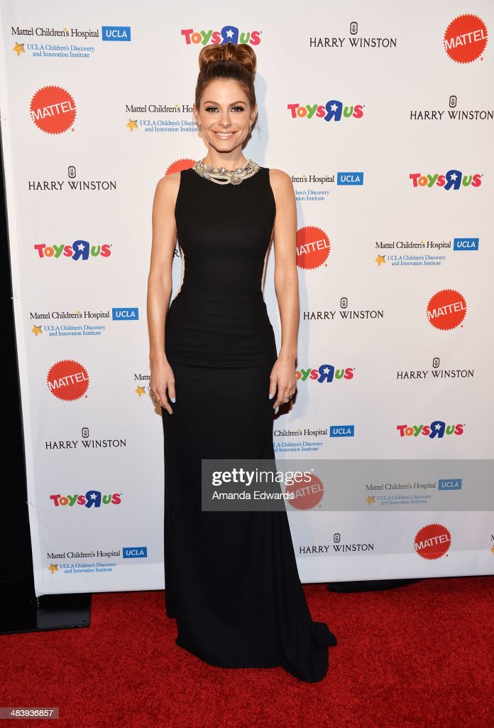 Television personality Maria Menounos arrives at the Kaleidoscope Ball - Designing The Sweet Side Of L.A. event at The Beverly Hills Hotel on April 10, 2014 in Beverly Hills, California.