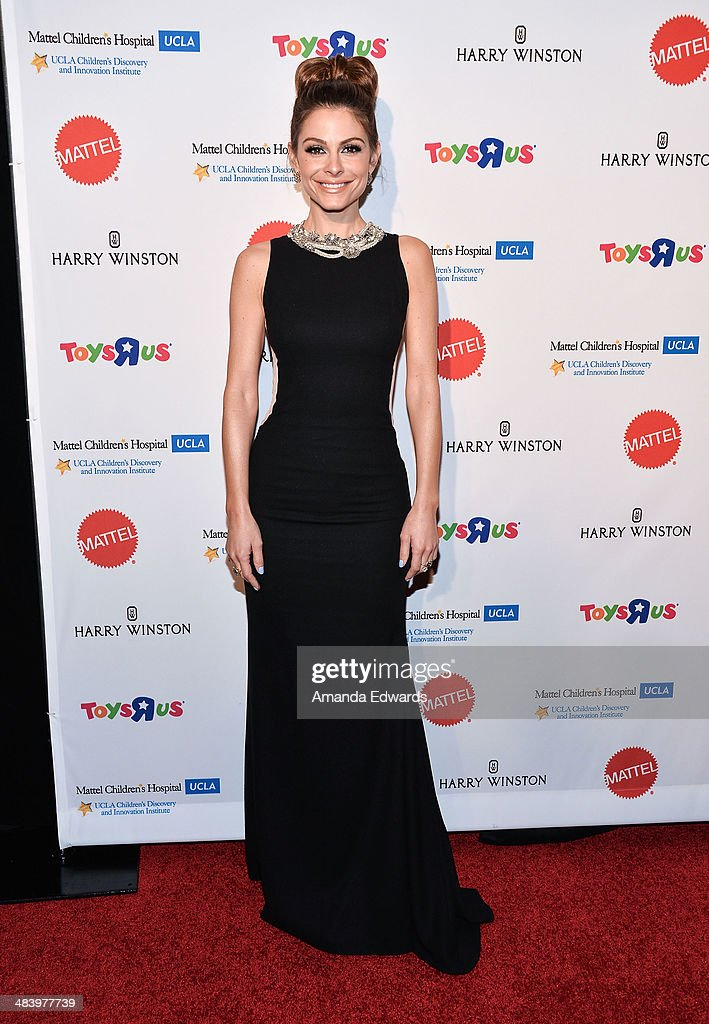 Television personality <a gi-track='captionPersonalityLinkClicked' href=/galleries/search?phrase=Maria+Menounos&family=editorial&specificpeople=203337 ng-click='$event.stopPropagation()'>Maria Menounos</a> arrives at the Kaleidoscope Ball - Designing The Sweet Side Of L.A. event at The Beverly Hills Hotel on April 10, 2014 in Beverly Hills, California.