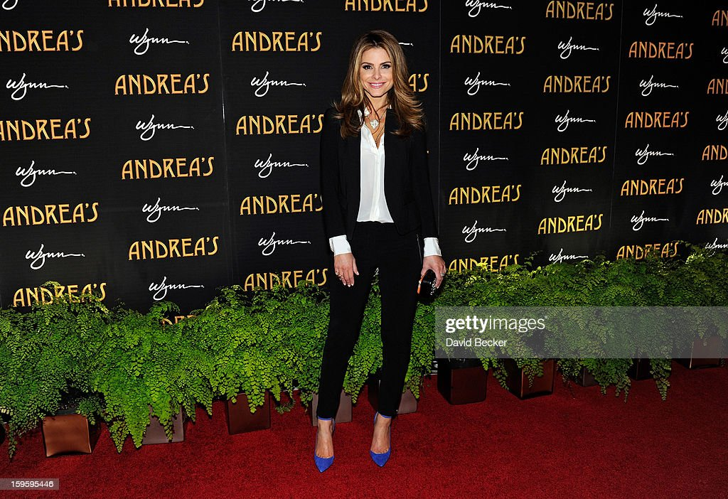 Television personality <a gi-track='captionPersonalityLinkClicked' href=/galleries/search?phrase=Maria+Menounos&family=editorial&specificpeople=203337 ng-click='$event.stopPropagation()'>Maria Menounos</a> arrives for the grand opening celebration at Andrea's at the Wynn Las Vegas on January 16, 2013 in Las Vegas, Nevada.