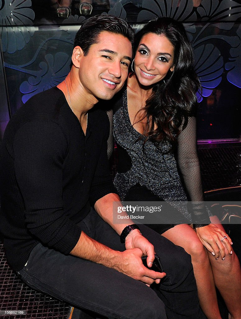 Final Fling Before The Ring As Mario Lopez Celebrates Fiancee Courtney Mazza's Bachelorette Party At The Bank Nightclub