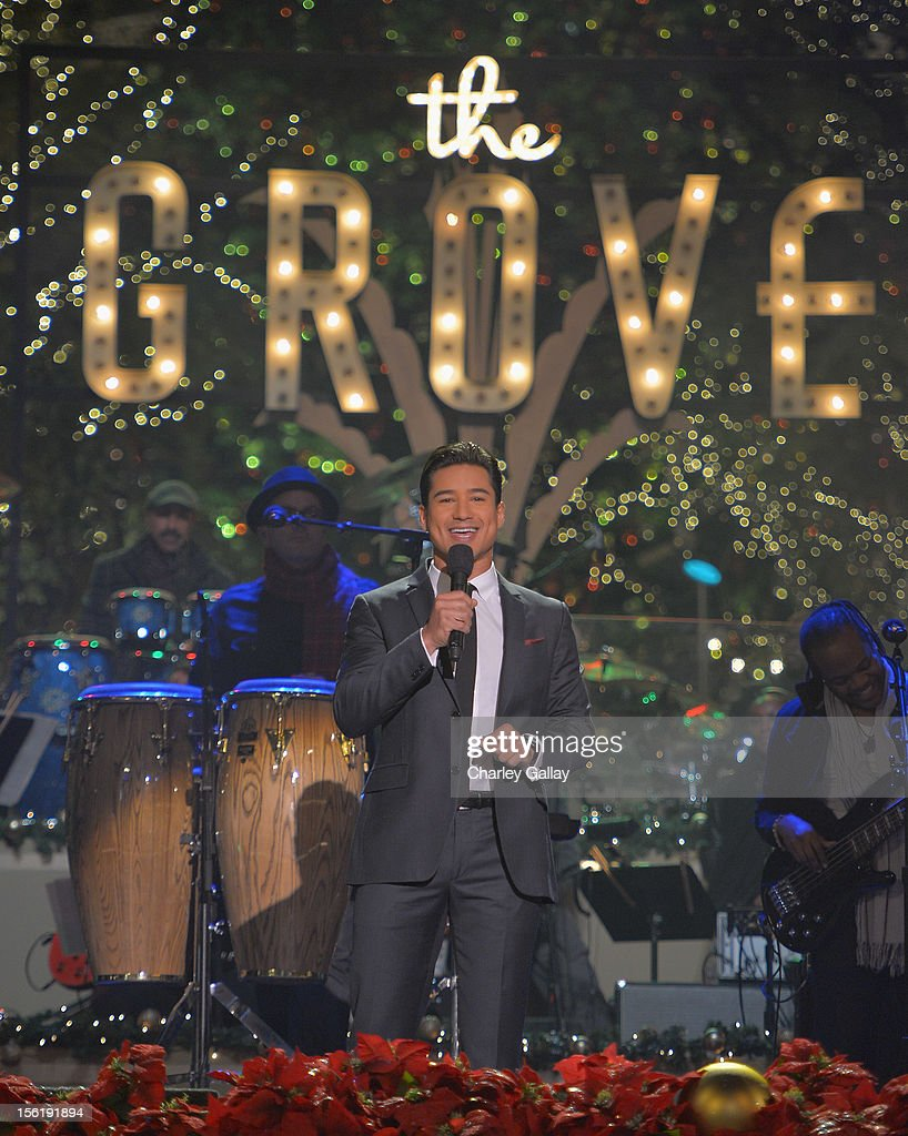 Television personality Mario Lopez hosts The Grove's 10th Annual Star Studded Holiday Tree Lighting Spectacular Presented By Citi at The Grove on November 11, 2012 in Los Angeles, California.