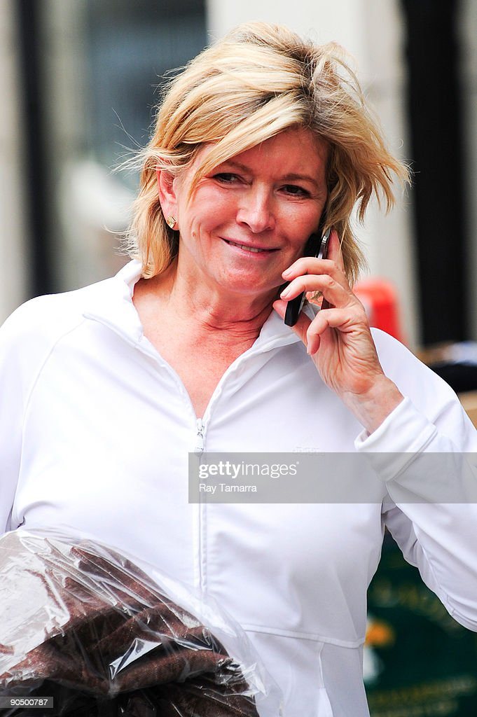 Television personality Martha Stewart shops at Bergdorf Goodman on September 09, 2009 in New York City.
