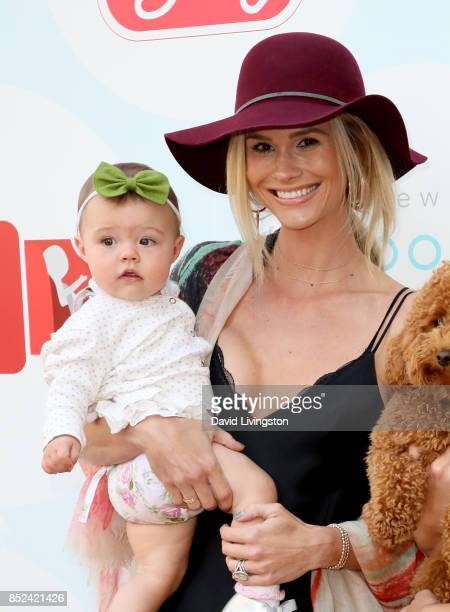 Television personality Meghan King Edmonds and Aspen King Edmonds attend the 6th Annual Celebrity Red CARpet Safety Awareness Event at Sony Studios...
