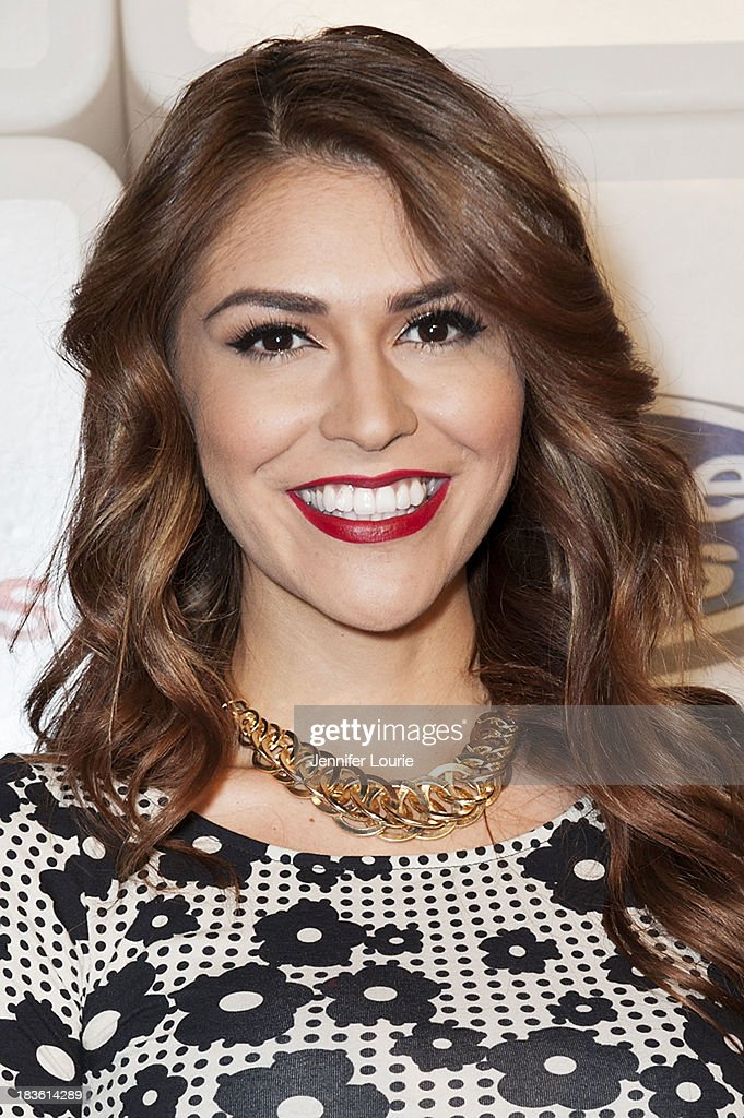 Television personality Melissa 'Crash' Barrera attends Deportes Telemundo's celebration of their hit show 'Titulares Y Mas' at Ebanos Crossing on October 7, 2013 in Los Angeles, California.