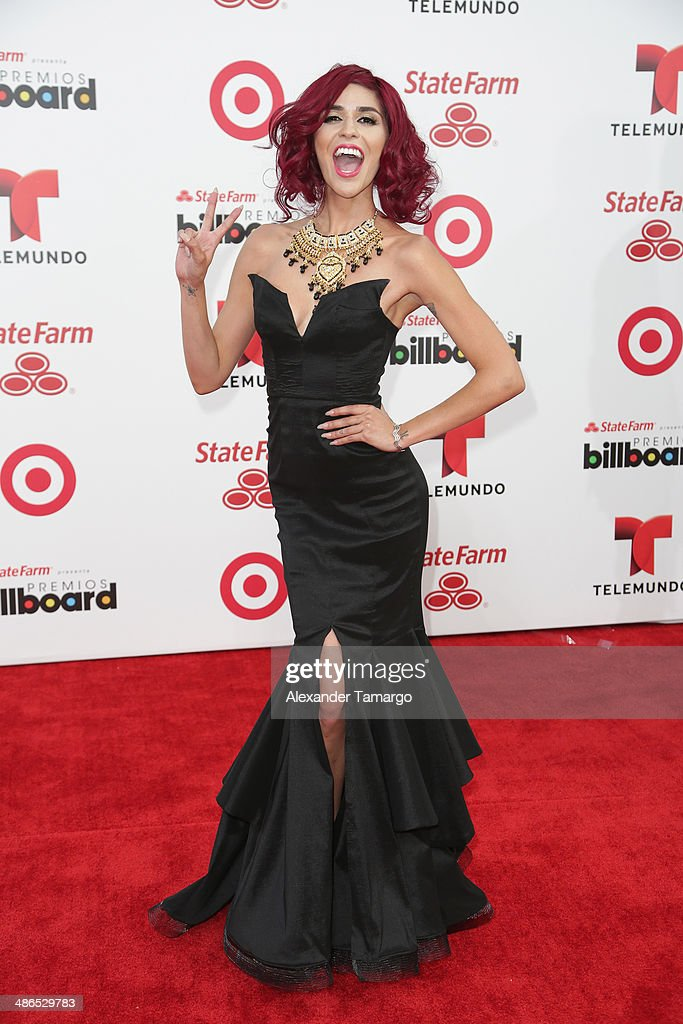 Television personality Melissa 'Crash' Barrera attends the 2014 Billboard Latin Music Awards at Bank United Center on April 24, 2014 in Miami, Florida.