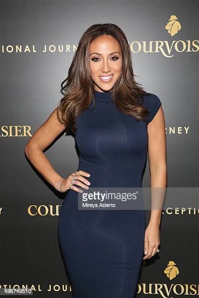 Television personality Melissa Gorga attends Courvoisier Cognac's 'Exceptional Journey' event at Industria Superstudio on November 11 2015 in New...