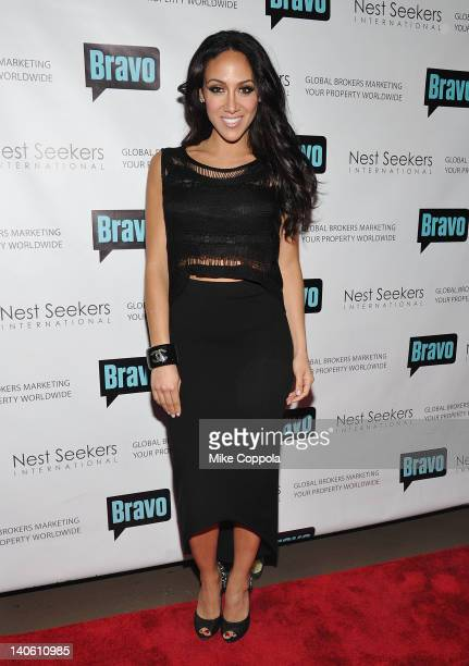 Television personality Melissa Gorga attends the 'Million Dollar Listing New York' premiere at Catch Roof on March 2 2012 in New York City