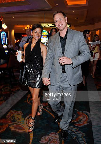 Television personality Melissa Rycroft and Tye Strickland attend at the Simon G Jewelry 'Summer Soiree' event benefiting Global Green US A at The...