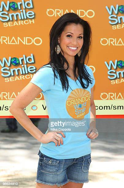 Television personality Melissa Rycroft attends Smile Train's World Smile Search in Madison Square Park on April 23 2010 in New York City
