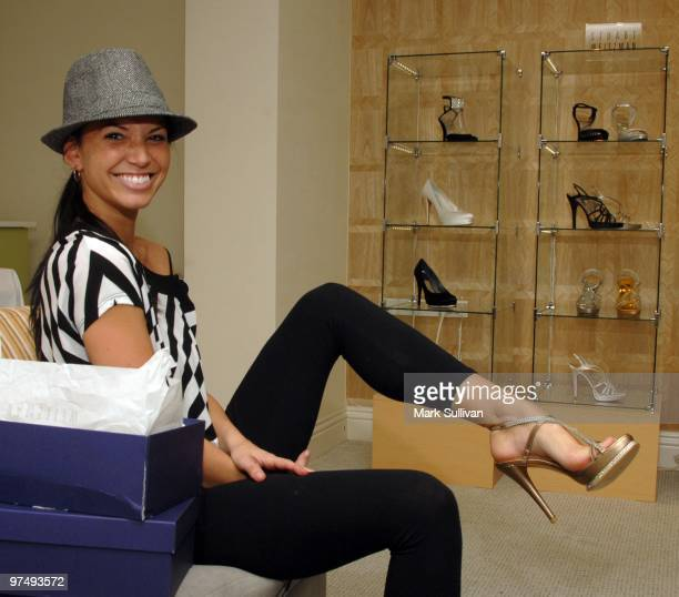 Television personality Melissa Rycroft attends the Stuart Weitzman Oscar styling suite at The London Hotel on March 6 2010 in West Hollywood...