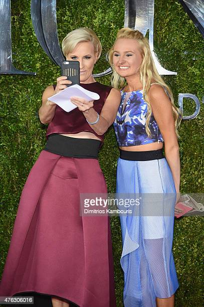 Television personality Mika Brzezinski and Emilie Hoffer attend the 2015 Tony Awards at Radio City Music Hall on June 7 2015 in New York City