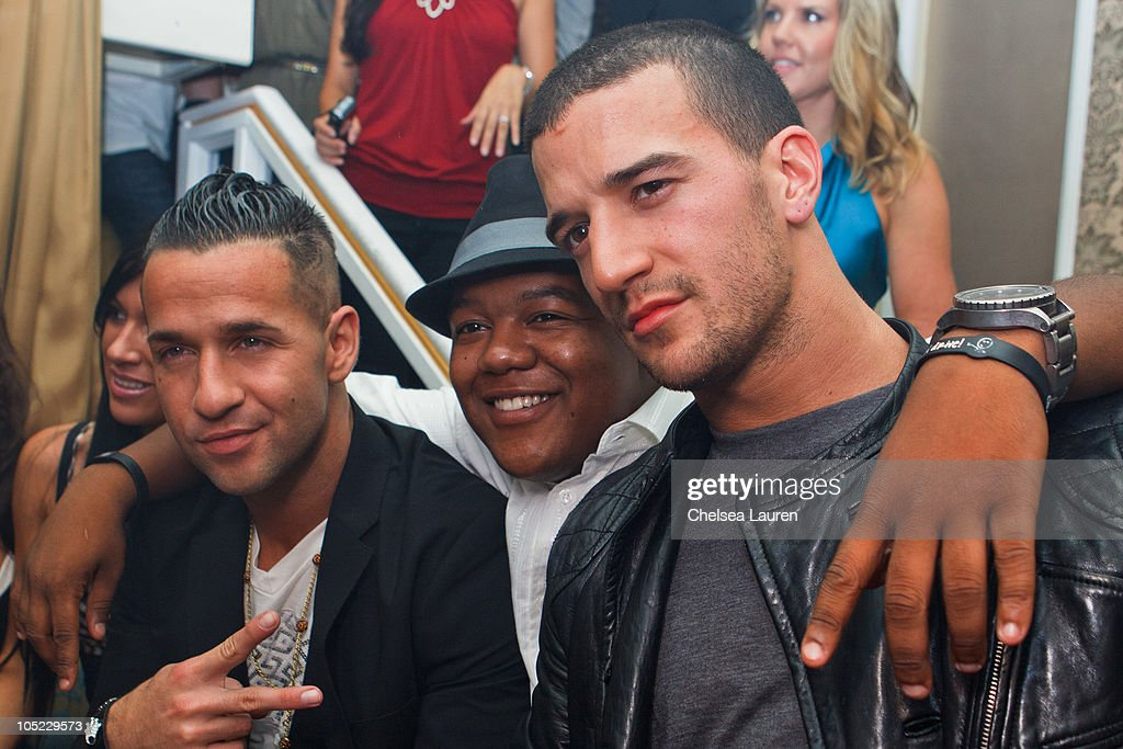 Television personality Mike 'the Situation' Sorrentino, actor <a gi-track='captionPersonalityLinkClicked' href=/galleries/search?phrase=Kyle+Massey+-+Actor+-+Born+1991&family=editorial&specificpeople=540280 ng-click='$event.stopPropagation()'>Kyle Massey</a> and dancer / television personality <a gi-track='captionPersonalityLinkClicked' href=/galleries/search?phrase=Mark+Ballas&family=editorial&specificpeople=4531129 ng-click='$event.stopPropagation()'>Mark Ballas</a> attend the Doctrine Denim launch party at Boudoir on October 12, 2010 in Los Angeles, California.