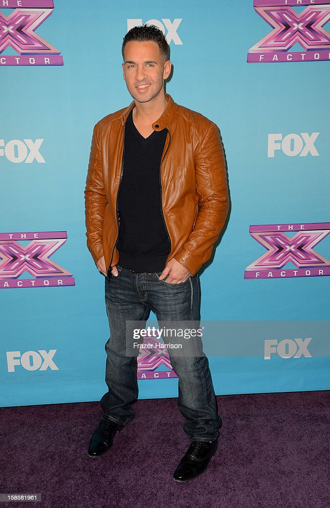 Television Personality Mike 'The Situation' Sorrentino arrives at Fox's 'The X Factor' Season Finale Night 1 at CBS Television City on December 19, 2012 in Los Angeles, California.