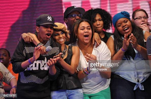Television personality Miss Mykie cohosts BET's 106th Park show at 106 Park Studio on March 20 2013 in New York City