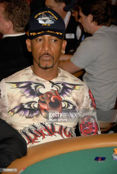Television personality Montel Williams arrives at the 'Ante Up for Africa' celebrity poker tournament during the World Series of Poker at the Rio...