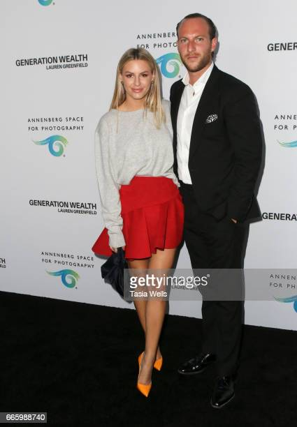Television personality Morgan Stewart and real estate agent/television personality Brendan Stewart attend opening night of 'Generation Wealth' by...