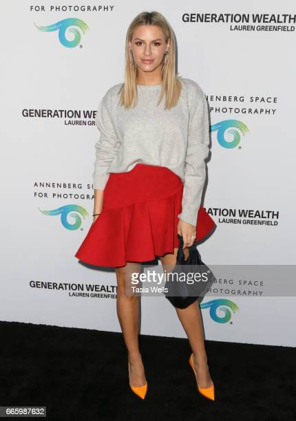Television personality Morgan Stewart attends opening night of 'Generation Wealth' by Lauren Greenfield at Annenberg Space For Photography on April 6...
