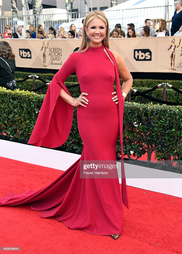 Television personality Nancy O'Dell attends The 23rd Annual Screen Actors Guild Awards at The Shrine Auditorium on January 29, 2017 in Los Angeles, California. 26592_008
