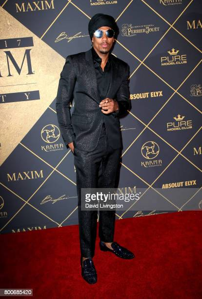 Television personality Nick Cannon attends The 2017 MAXIM Hot 100 Party produced by Karma International at The Hollywood Palladium in celebration of...