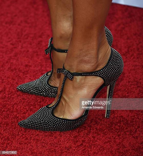 Television personality Nicole Mitchell Murphy shoe detail arrives at the 7th Annual Big Fighters Big Cause Charity Boxing Night Benefiting The Sugar...