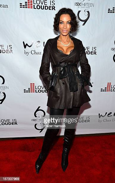 Television Personality Nicole Murphy arrives at Chaz Dean's Holiday Party Benefitting the Love is Louder Movement on December 1 2012 in Los Angeles...
