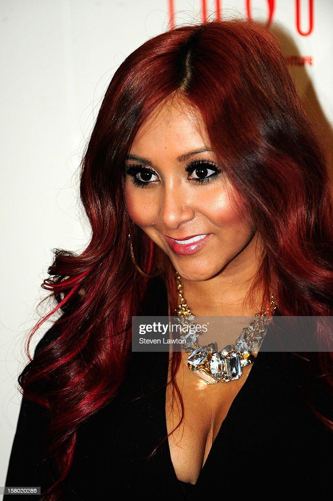 Television personality Nicole 'Snooki' Polizzi arrives for a post-fight party at the Tabu Ultra Lounge at the MGM Grand Hotel/Casino on December 8, 2012 in Las Vegas, Nevada.