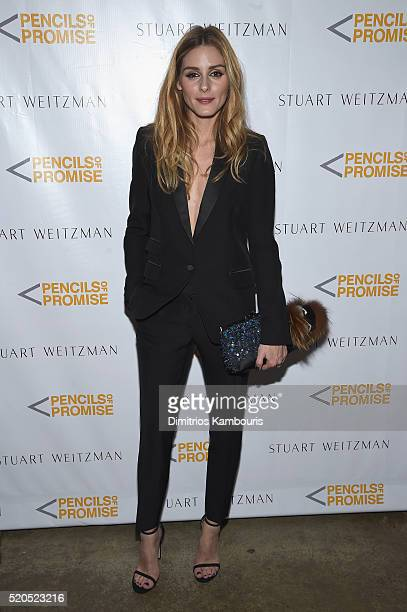 Television personality Olivia Palermo attends as Stuart Weitzman launches its partnership with Pencils Of Promise at Sadelle's on April 11 2016 in...