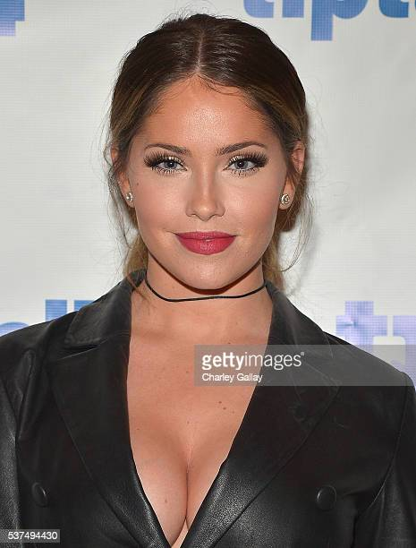 Television personality Olivia Pierson attends the TipTalk App Launch Party at a private residence on June 1 2016 in Los Angeles California